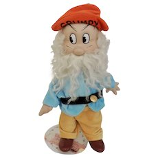 Limited Edition Knickerbocker Disney Grumpy Doll from Snow White and the Seven Dwarfs