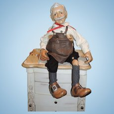 "The Xenis Collection Musical Wooden Dolls Geppetto ""The Nutcracker Suite"" #163"