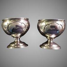 Pair of Ca. 1860 Silver Repose Cups