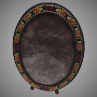 Antique Oval Micromosaic Frame
