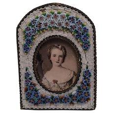 Antique Italian Micromosaic Frame