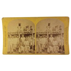 1873 Stereoview Card of Zuni Tribespeople