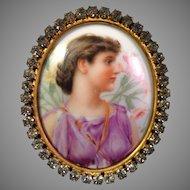 Antique Porcelain Portrait