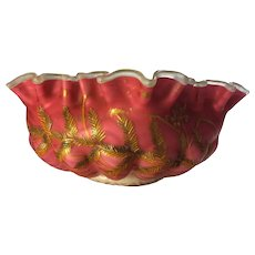 Thomas Webb Case Glass Centerpiece Bowl