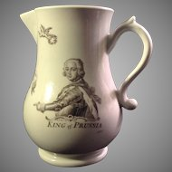 Antique Worcester King of Prussia Baluster Pitcher