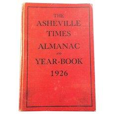 1926 Asheville, NC Almanac