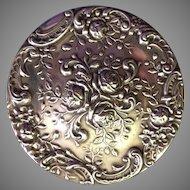 Vintage Gorham Sterling Silver Compact Dresden Rose Pattern