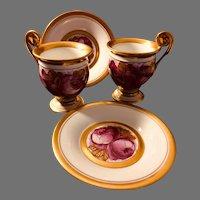 Vintage Pair of Richard Ginori Cup and Saucer Set