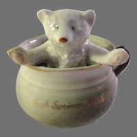 Vintage Porcelain Fairing-Bear in Chamber Pot