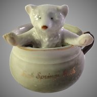 Vintage Porcelain Fairing-Bear in Chamber Pot