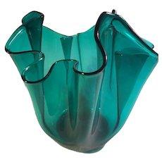 Mid-Century Venini Murano Handkerchief Vase