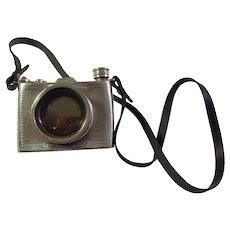 Mid-Century Pinder Bros. Ltd. English Pewter Camera Flask