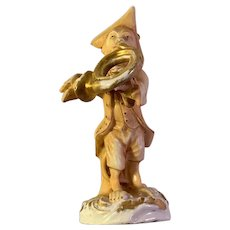 Ca. 1890 Monkey Horn Player Figurine