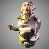 Dresden Carl Thieme Porcelain Monkey Figurine