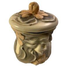 Art Nouveau Porcelain Tobacco Box