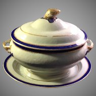3 PC Circa 1800 Chinese Export Soup Tureen and Under Plate