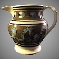 Early 19th Century English Mochaware Pitcher