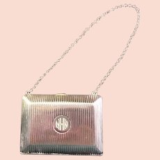 Ca. 1920 Sterling Wm. B. Kerr Evening Purse with Chain