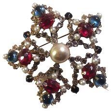 Schreiner Star-shaped Brooch
