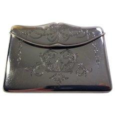 Antique Henry Matthews Sterling Silver Card Case