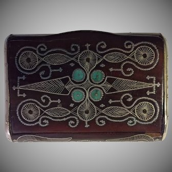 Ca. 1880 Middle Eastern Wooden Snuff Box