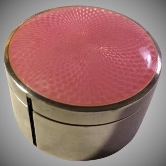 Black, Starr, and Frost Pink Guilloche Stamp Box