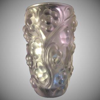 Lalique Raison Pattern Vase