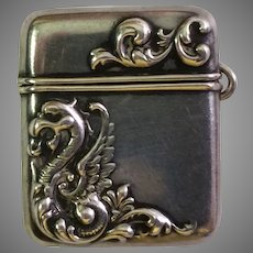 Antique Sterling Silver Stamp Box