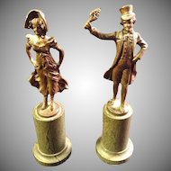 Pair of Opitz Bronze Circa 1910 Figurines