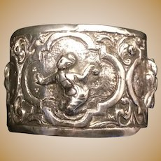Antique Silver Oriental Decoration Napkin Ring