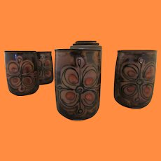 Bizan Glazed Cups and Jar