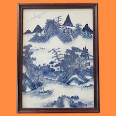 Very Large & Heavy Kangxi Blue and White Plaque