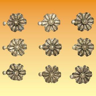 Vintage Cannetille Textile Medallions