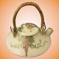 Miniature Satsuma Teapot Wisteria Motif