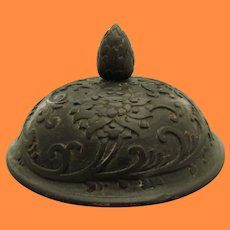 """Antique Chinese Baluster Jar """"General's Hat""""  Zitian Wood Lid"""