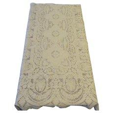 Point de Venise Needle Lace Tablecloth Banquet Sized - 13.5 feet