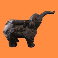 Asian Cast Bronze Elephant Censer