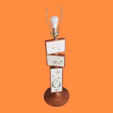 Mid Century Harris Strong Tile Art Lamp