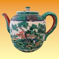 Ko Kutani Teapot 19th Century - Mokubei Style