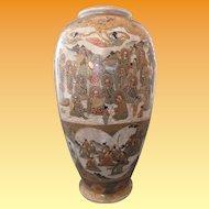 Satsuma Baluster Vase - Gods, Sumurai and Geisha, Kinzan