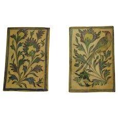 Antique 19th Century Qajar Period tile Pair