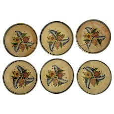 Old Tlaquepaque Faience Ware Plates  Mexican Folk Pottery