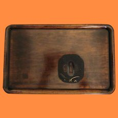 Fine Japanese Handcarved Tea Ceremony Tray with Tsubo Detail and Seiho Mark