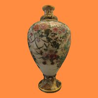 Miniature Satsuma Meiping Vase - Matsumoto Hozan