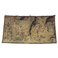 Vintage Musketeer Pub Scene Tapestry