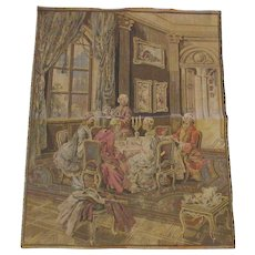 Vintage Belgium Tapestry Tea Time