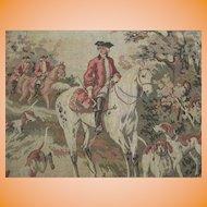 Vintage Italian Tapestry The Hunt