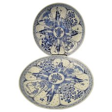 Kangxi Marked Qing Dynasty Eliza Long Export Plate Pair