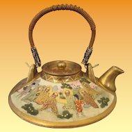 Miniature Gods and Geisha Motif Teapot - Kitamura
