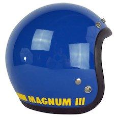 Original 1975 Bell Magnum Mag III Motorcycle Racing Blue Helmet
